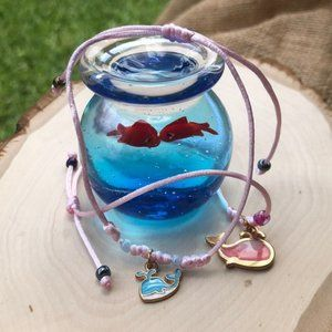 Whale mommy and me set bracelet